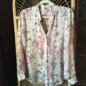 KUT FROM THE KLOTH Floral Button Down Blouse Sm